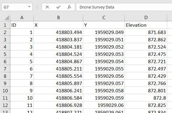 Sample-Drone-data